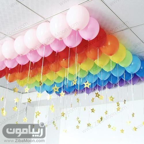 بادکنک ارایی تولد با تم رنگین کمان