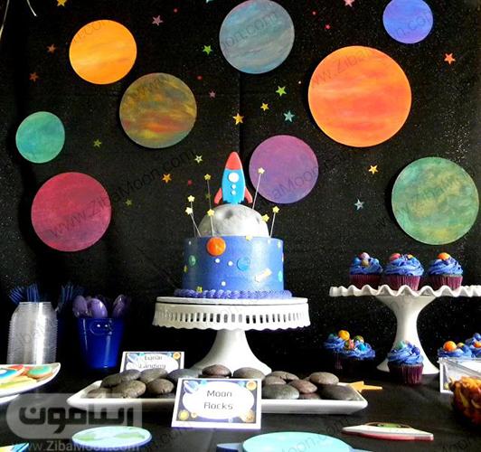 تولد پسرانه با تم فضایی