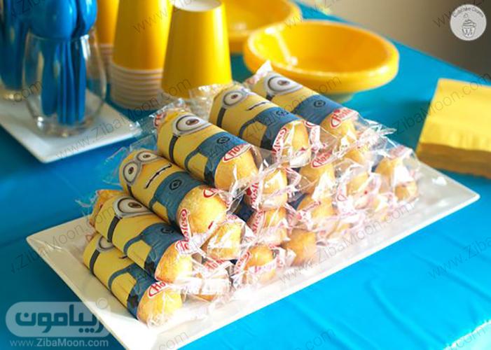ساندویچ تولد با تزیین مینیونی
