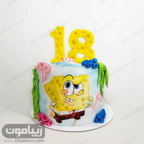 کیک تولد باب اسفنجی