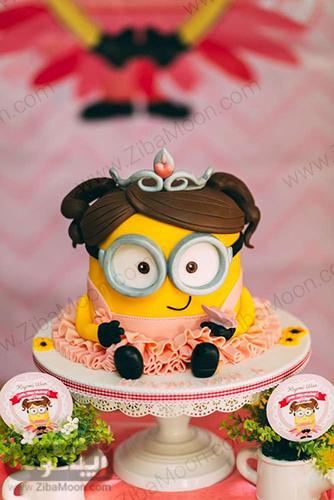 کیک تولد مینیون دخترانه