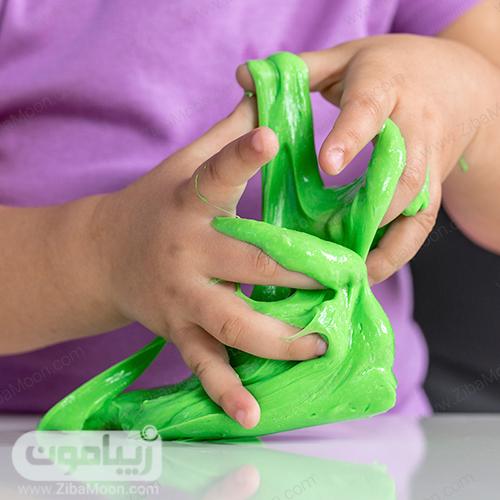 اسلایم سبز رنگ