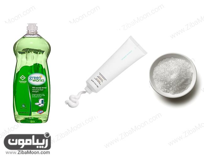 مایع ظرفشویی خمیردندان نمک