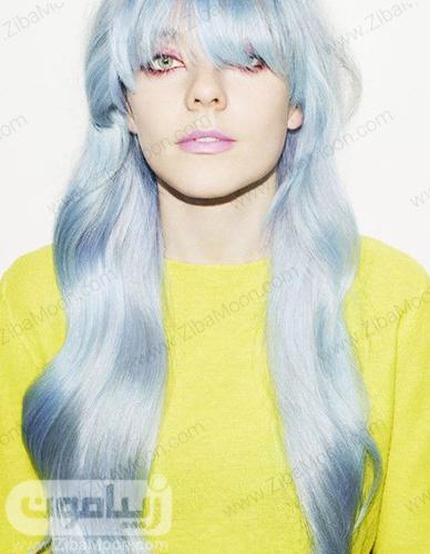 رنگ مو آبی روشن اقیانوسی برای سال 2020