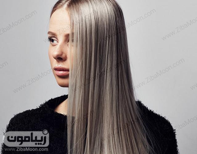 مدل رنگ مو سفید نقره ای برای سال 2020