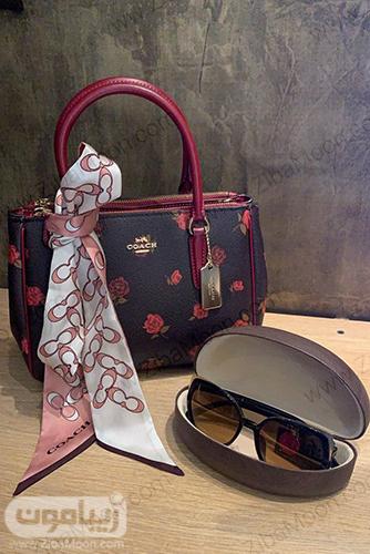 کفش قرمز زنانه برندJONES NEW YORK و کیف از برندCOACH