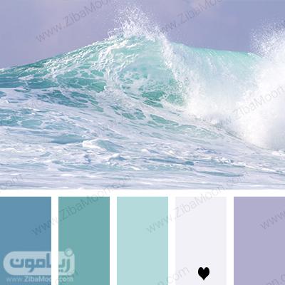 پالت رنگی آبی روشن و ملایم