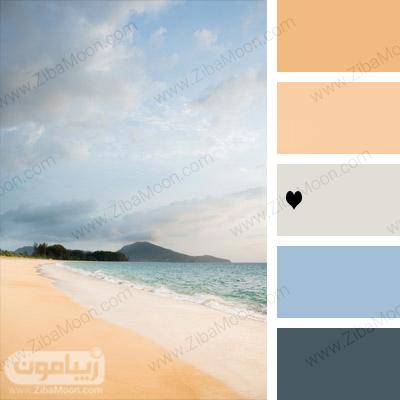 پالت رنگی ساحل و دریا