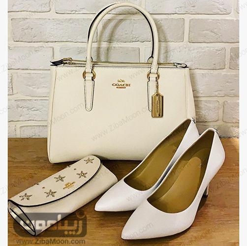 کیف زنانه سفید از برندCOACH