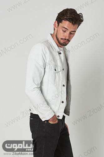 استایل مردانه با ژاکت روشن