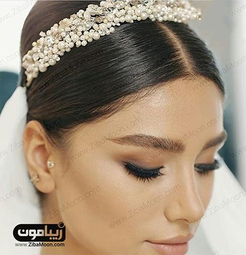 مدل موی عروس با تاج