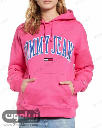 سوییشرت دخترانه صورتی از برند TOMMY