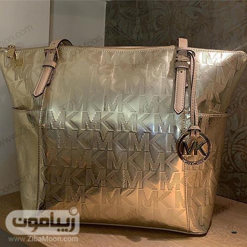 کیف زنانه طلایی از برندMICHEAL KORS