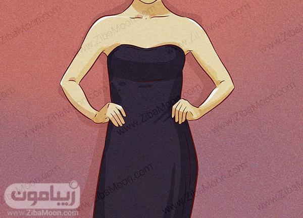لباس مجلسی دکلته ساده