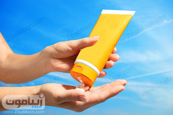 استفاده از کرم ضدافتاب