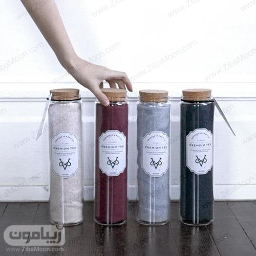 ایده بسته بندی لباس در بطری شیشه ای