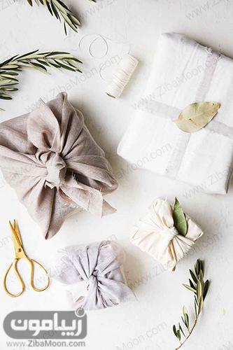 بسته بندی کادو با پارچه