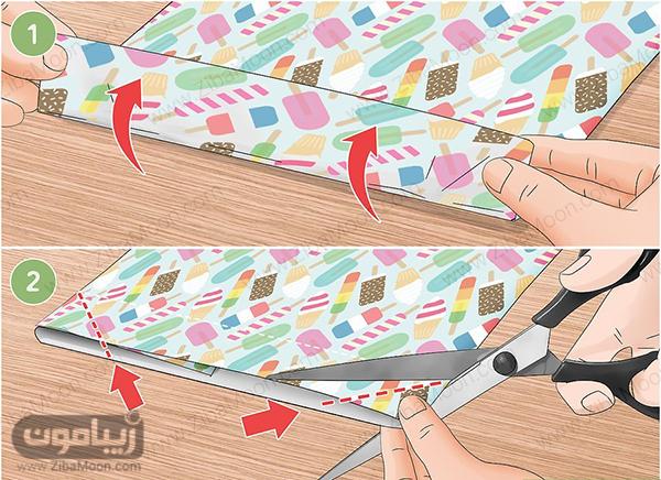 قیچی کردن کاغذ کادو