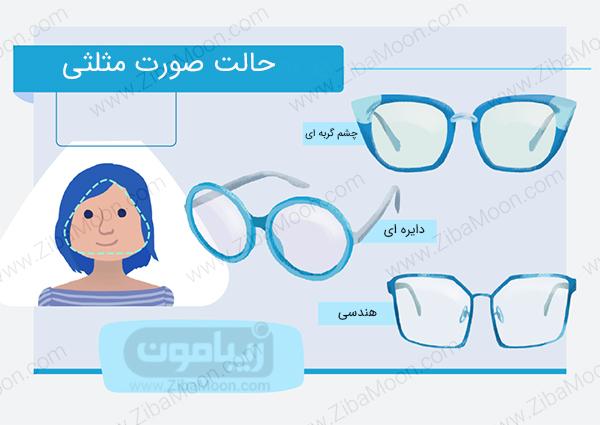 عینک برای صورت مثلثی