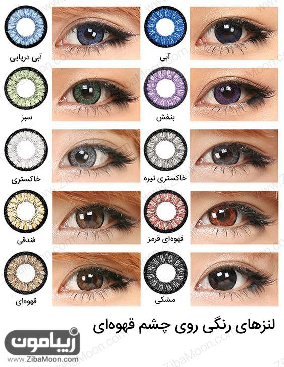 لنز رنگی برای چشم قهوه ای