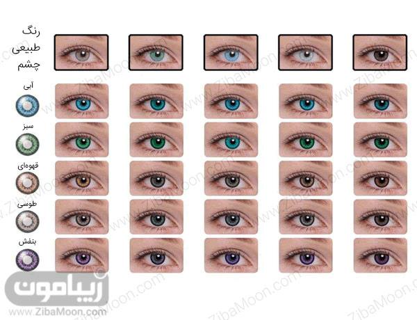لنز رنگی و چشم قهوه ای