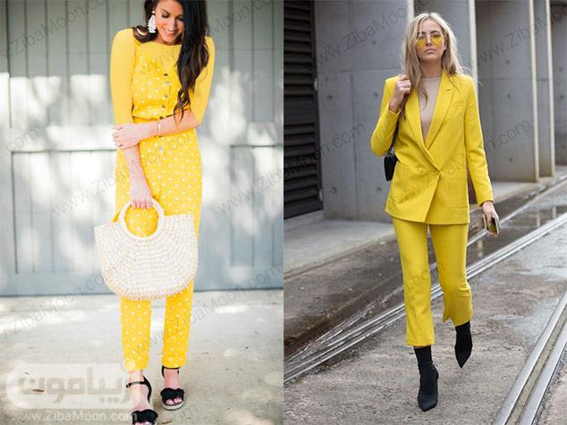 استایل شیک با لباس زرد رنگ برای عید 98