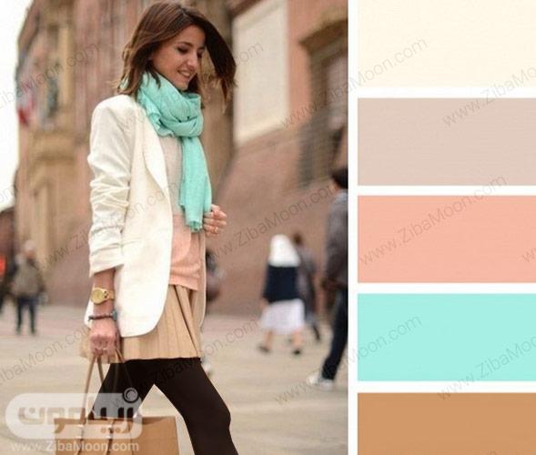 ترکیب رنگ مناسب با لباس کرمی