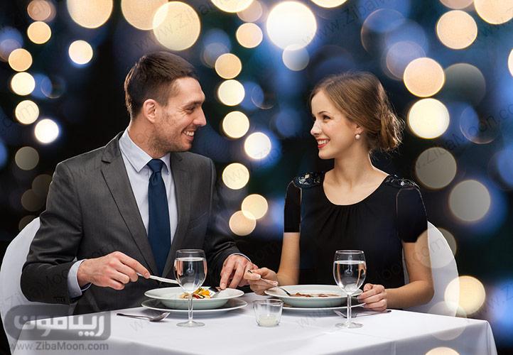 زن و مرد در رستوران