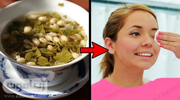 چای سبز و مژه