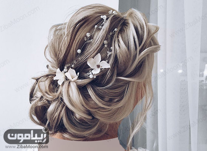 شینیون عروس با گل