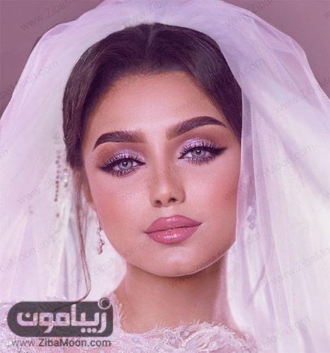 مدل آرایش عروس با خط چشم گربه ای