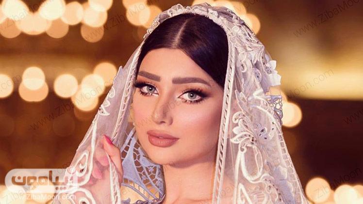 مدل آرایش عروس با رژلب نود
