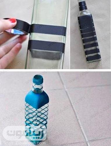 استفاده از نوراچسب برای رنگ کردن بطری
