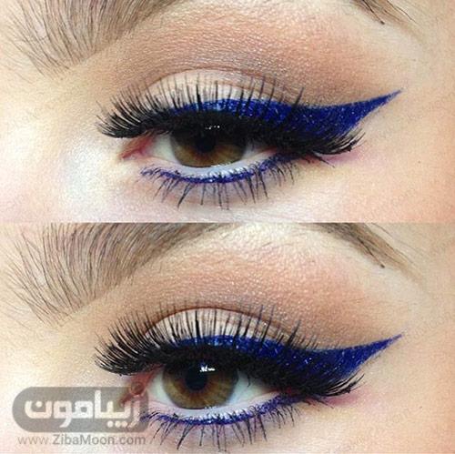خط چشم آبی تیره