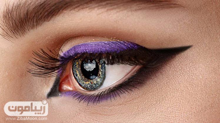 مدل خط چشم مشکی و بنفش