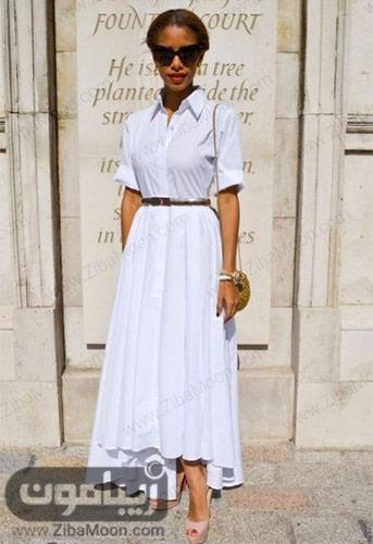 استایل کژوال دخترانه با لباس و دامن سفید