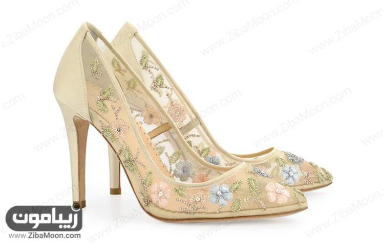 کفش عروس شامپاینی