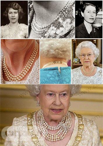 گردنبند مروارید ملکه الیازبت دوم