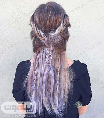 بافت مو ترکیبی زیبا و جدید