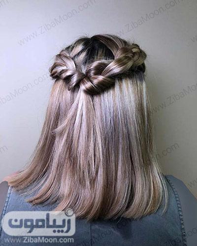 بافت مو جذاب روی موهای کوتاه