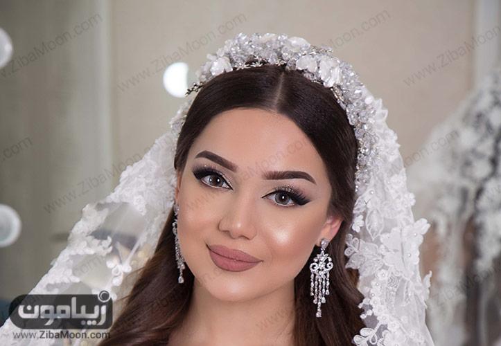 آرایش مات و ملایم عروس 2019