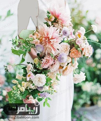 دسته گل عروس با گل های بزرگ