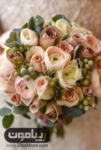 دسته گل عروس به رنگ نود