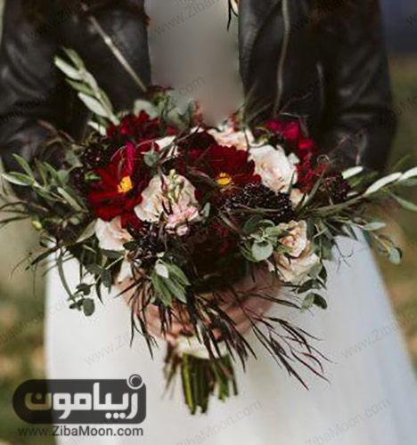 دسته گل عروس به سبک بوهو