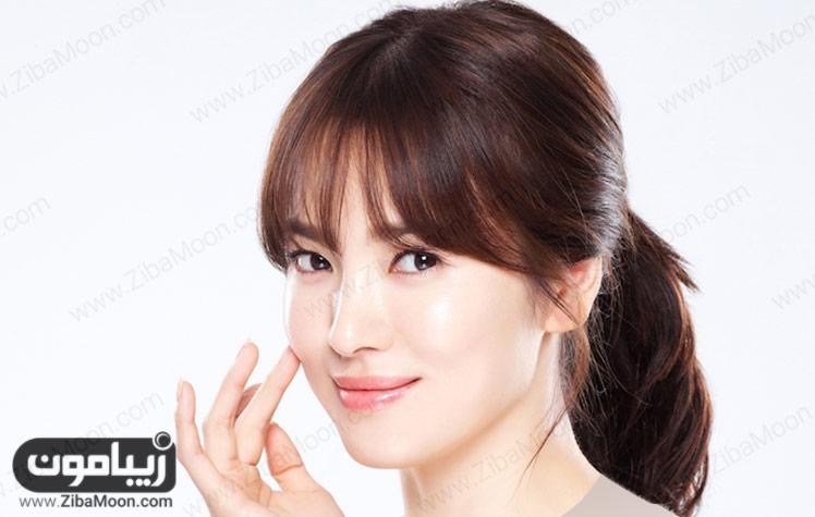 زن زیبای کره ای