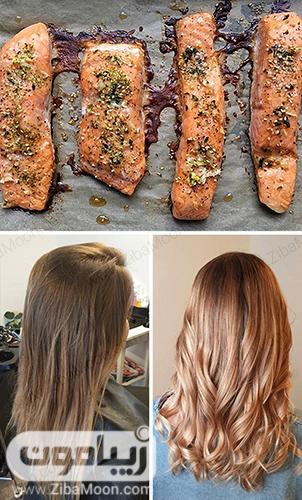 ماهی سالمون برای داشتن موهای سالم