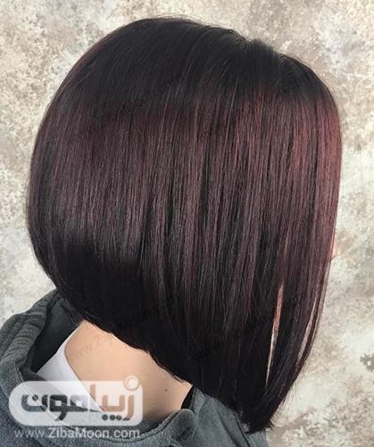 رنگ موی تیره با درخشش ماهگونی