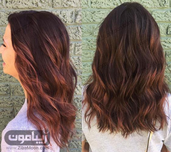 رنگ موی ماهگونی رزی