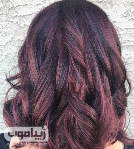 رنگ موی ماهگونی شرابی