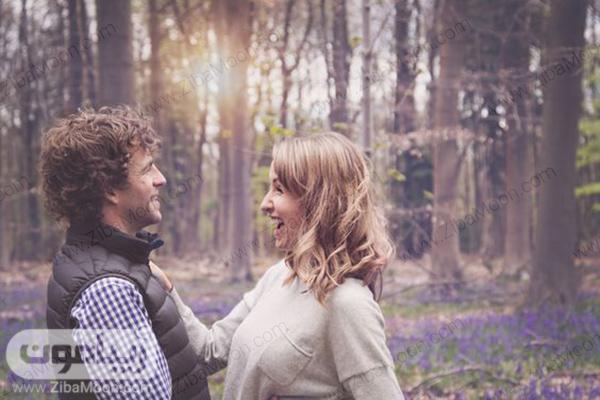 عکس یک زوج در حال خنده